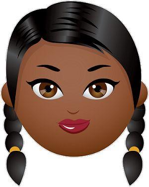Girl with Braids Emoji...