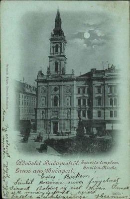 Budapest 1899 - Szervita Church Watch the Photo***