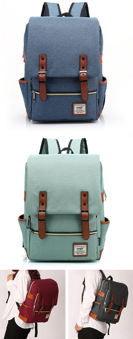 Vintage Canvas Travel Backpack Leisure Backpack&Schoolbag for big sale! #leisure #backpack #Bag #vintage #cute #school #canvas