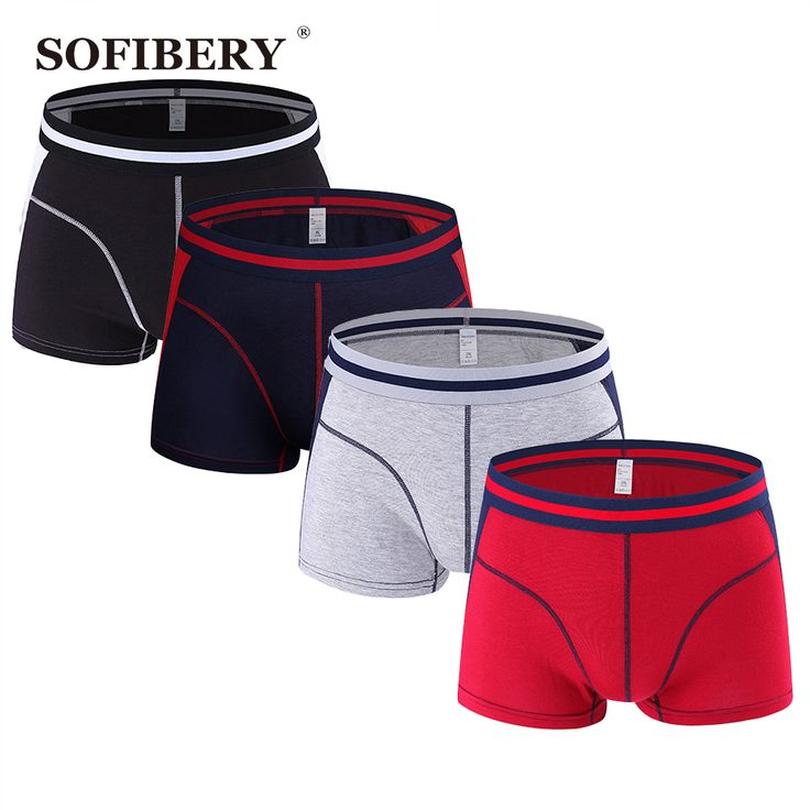 SOFIBERY New Men's shorts Fashion Sexy Men's Underwear High Quality Men's Boxers 4 pieces  lot Best Price #shoes, #jewelry, #women, #men, #hats, #watches, #belts