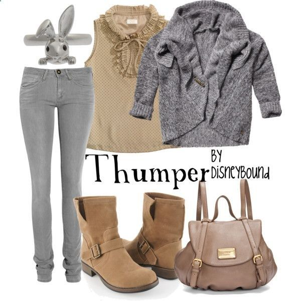 You have no idea how amused I am by this site. Outfits inspired by just about every Disney character ever along with tons of other movies/characters. Here is Thumper from Bambi :)