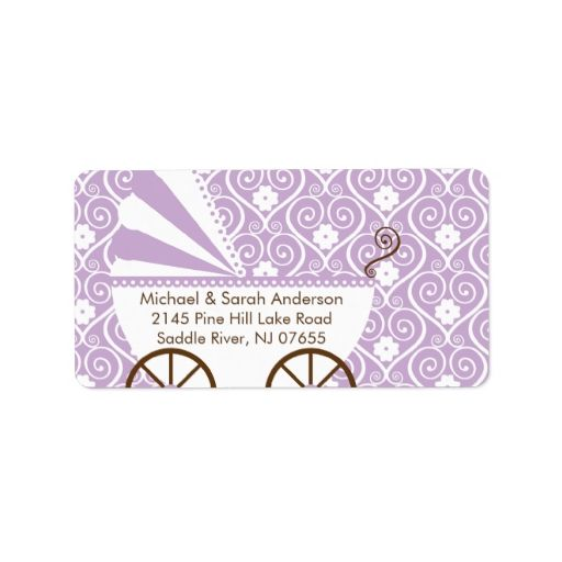 Best Baby Shower Address Labels Images On   Address