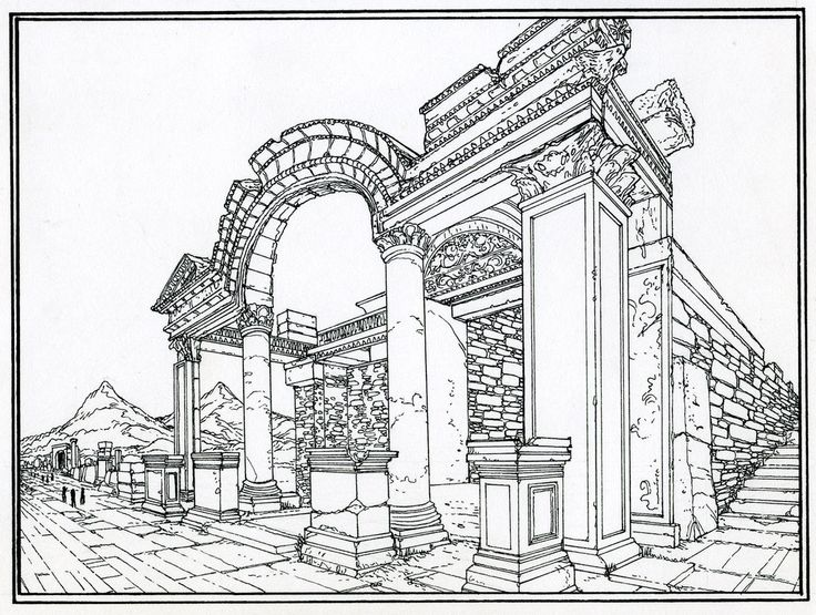 coloring pages of roman buildings - photo#11