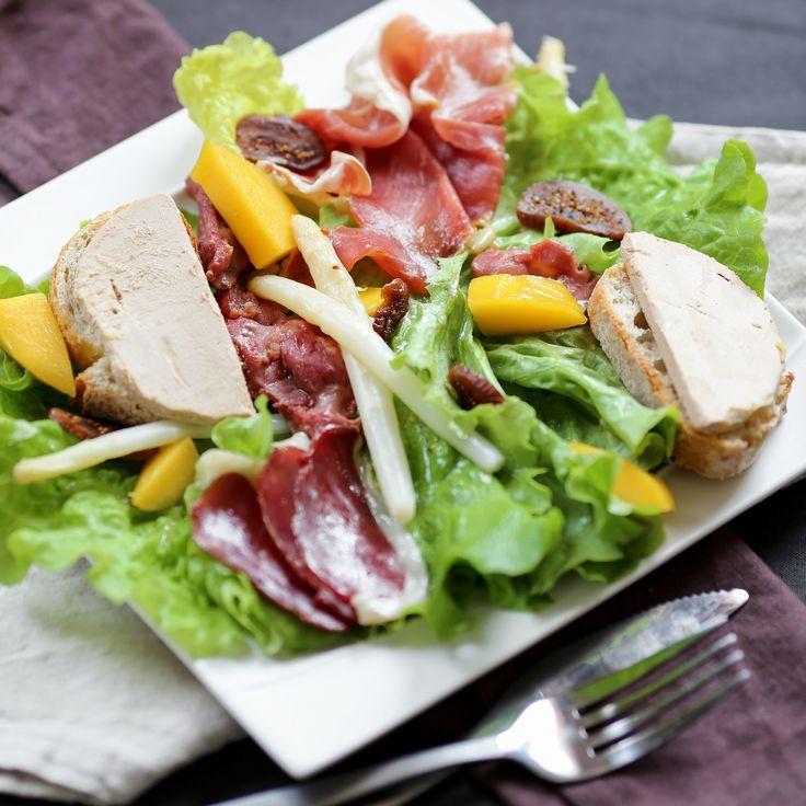 Salade landaise avec foie gras
