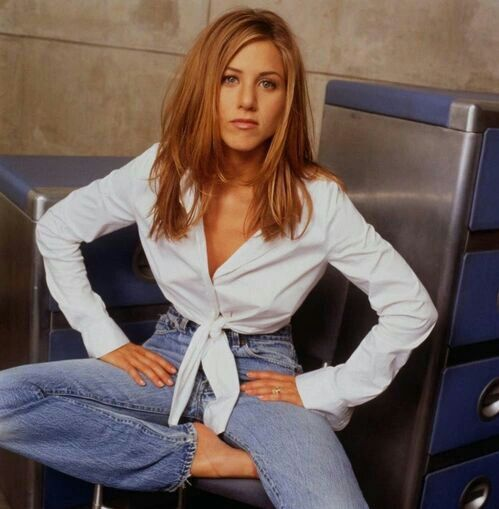 Jennifer Aniston, 90s, and fashion image
