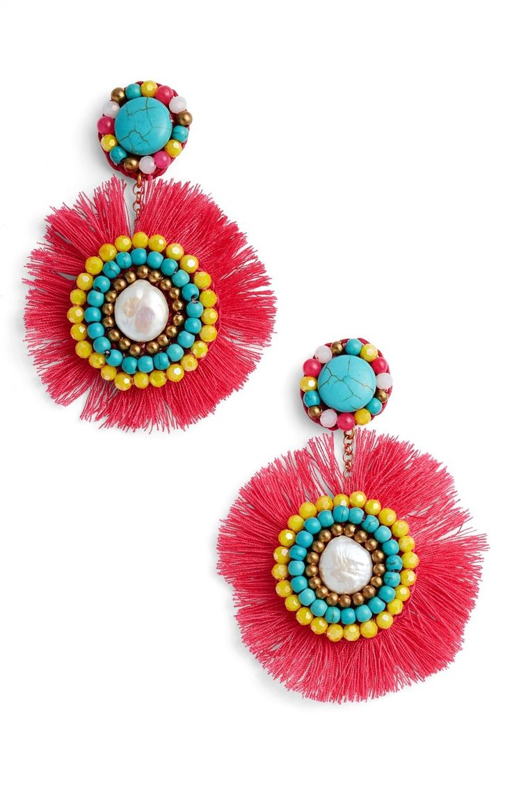 Panacea Fringe Statement Earrings available at #Nordstrom