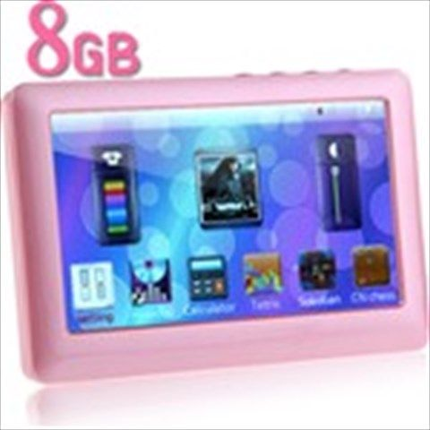 """8GB 4.3"""" TFT LCD Touch MP5 Player+ Music+ Movie+ FM+ Recorder+ Game+ Alarm+ Photo+ Ebook+ TV-OUT - Pink"""