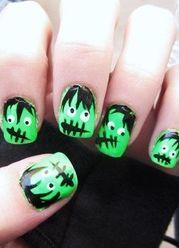 Frankenstein nail art!