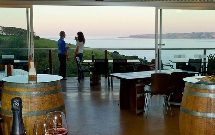 Dudley Wines. Dudley's indulgent Clifftop Cellar Door offers a wide range of wines for tasting, including whites, reds, bubbly's and sweet wines and is only 12km from the ferry terminal in Penneshaw.  Taste handcrafted wines on the deck, perched atop Kangaroo Island's stunning north coast.