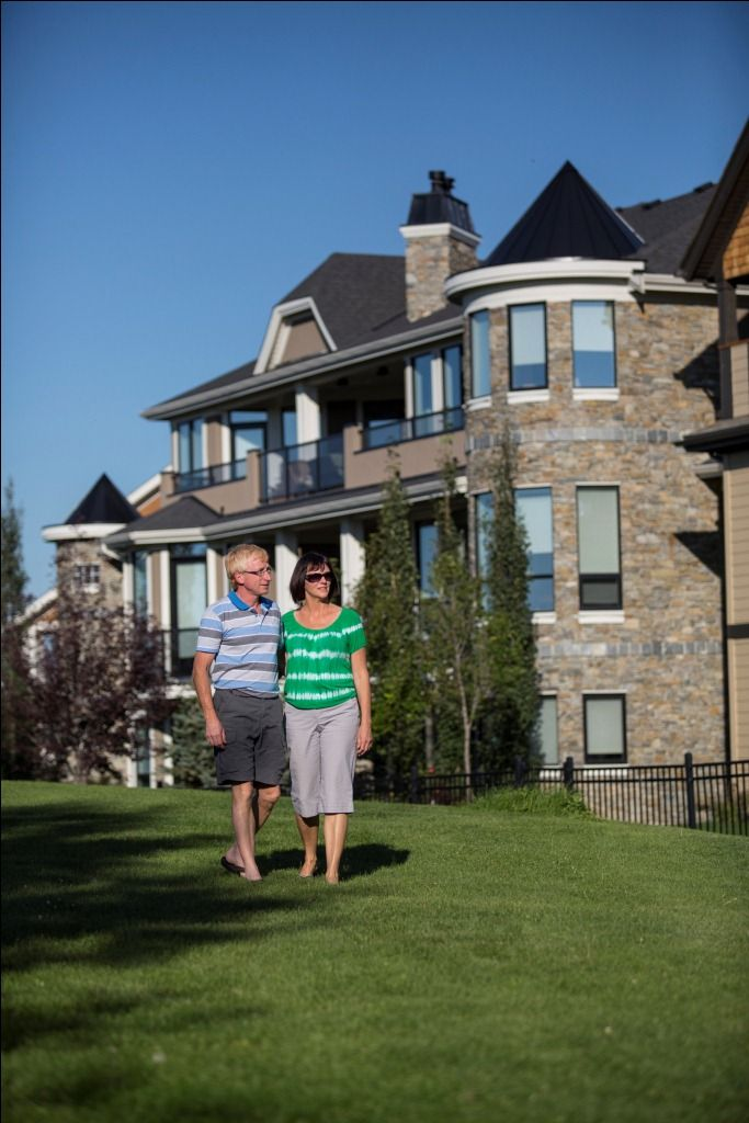 The turret gives this home a castle feel. www.cooperscrossing.ca #coopersairdrie