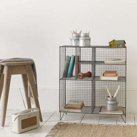 LOW WIRE. Nifty storage for all those bits and bobs that won't fit on your desk. And it looks good too!
