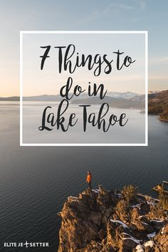 Looking for things to do in lake tahoe? There's something for everyone with incredible skiing with lake views, incredible beaches with mountain views, iconic features like Bonsai Rock, and casinos to take your chances. Take a california road trip to Lake Tahoe and see what it has to offer! #laketahoe #california #lake #winter #skiing #beach #travel #travelblog via @elitejetsetters
