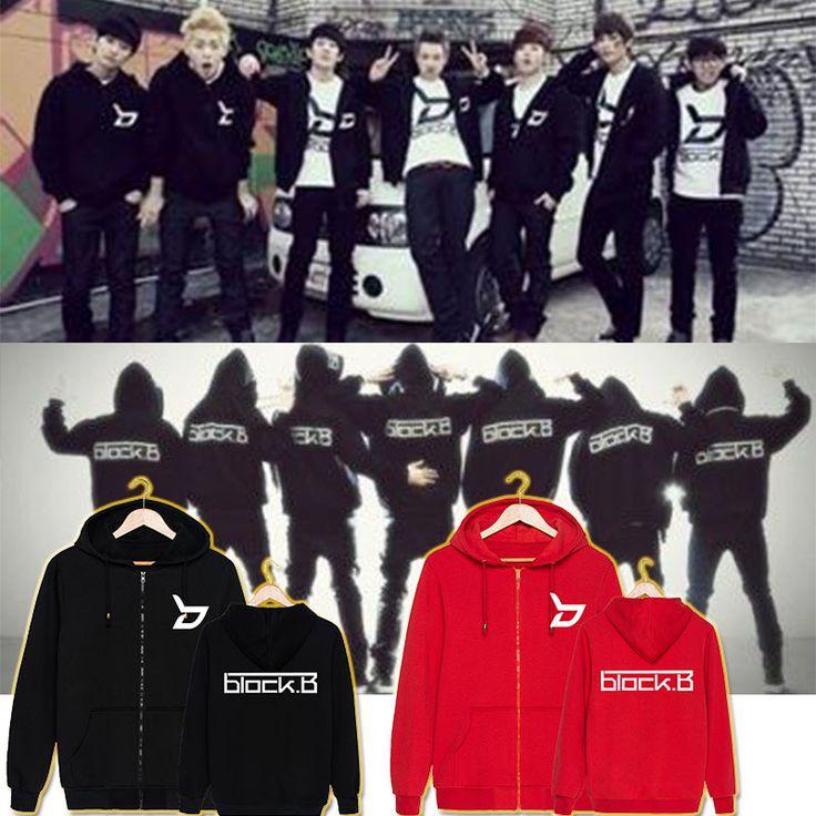 KPOP Korean Fashion Block.B Album BlockB Block B ZICO P.O JAEHYO B-BOMB Cotton Zipper Hoodies Zip-up Sweatshirts k-pop Hoodies