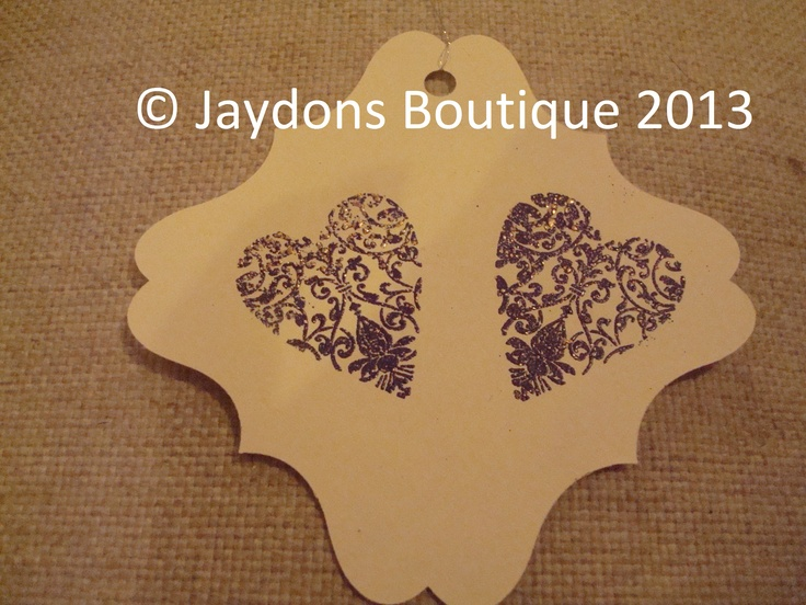 2 Hearts - Gift Tags