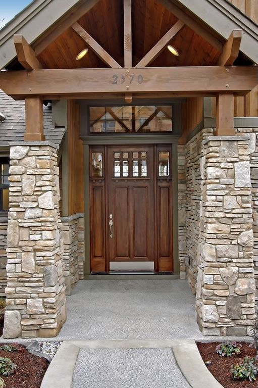 The 25 best stone veneer exterior ideas on pinterest for Craftsman stone