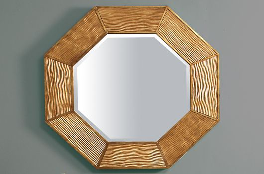 The Lennox Octagon Mirror is timeless, stylish and contemporary. Perfect as a hall mirror or above a mantle piece. A useful interior design accessory especially with our console tables. It also makes a wonderful and unique gift present for a special occasion. Our Lennox wall mirror is hand carved and cast, then covered in antiqued metal gold leaf.