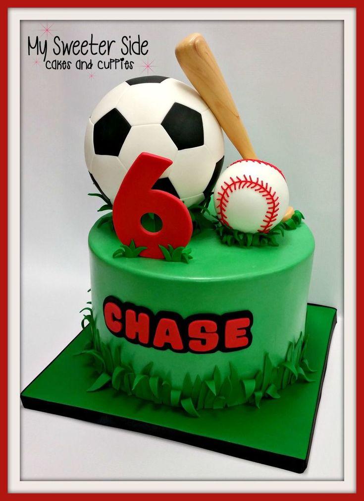 34 best Sports Cake images on Pinterest Cake central Birthdays
