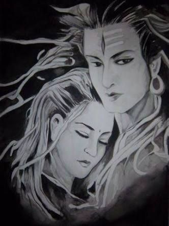 Image result for oil painting mahadev
