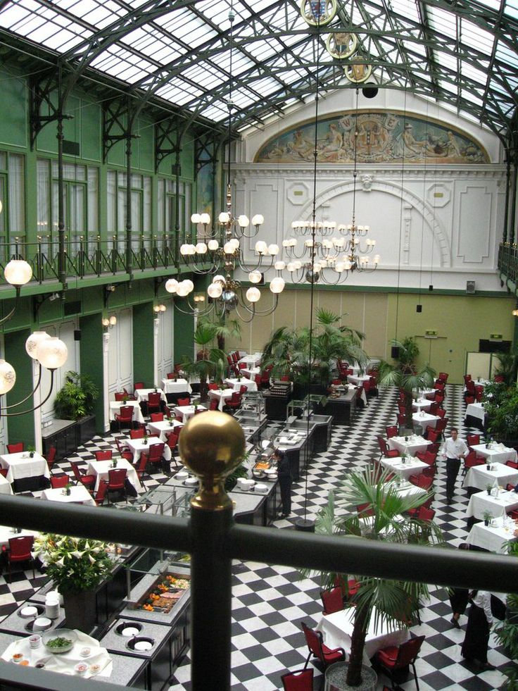 Amsterdam Winter Garden Dining Room At The Grand Hotel