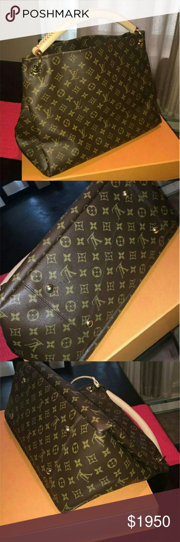 Brand new Artsy MM Brand new, never used Louis Vuitton Artsy MM in monogram. Was meant to be a gift, but things changed and the bag cannot be returned.  Purchased end of October 2016. Comes with dust bag, box, receipts  Price listed is through p...ay.pa..l. Louis Vuitton Bags Shoulder Bags