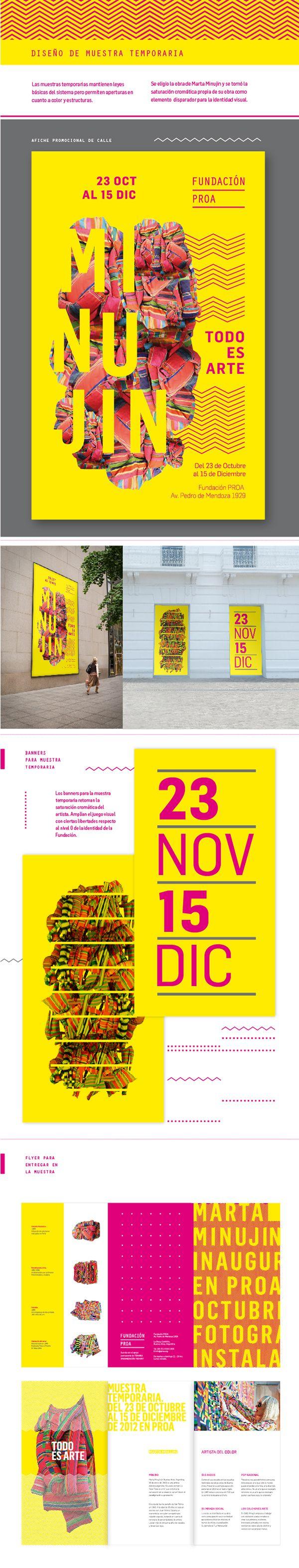 Desarrollo de Identidad para la Fundación Proa. Realizado para la materia Diseño Gráfico II, Gabriele, 2012, FADU, UBA.