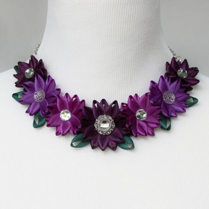 Purple Choker Necklace Deep Purple Necklace by PetalPerceptions