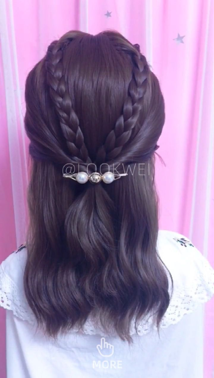 Do You Like This Simple Hairstyle Video Idea Easy Hairstyles Easy Hairstyle Video Hair Videos