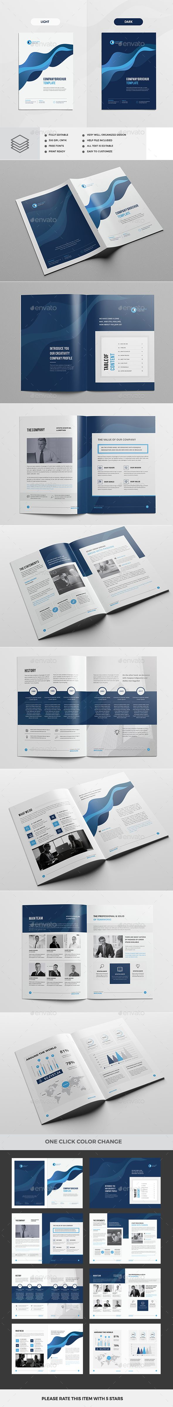 Clean & Modern Multipurpose Brochure Template InDesign INDD
