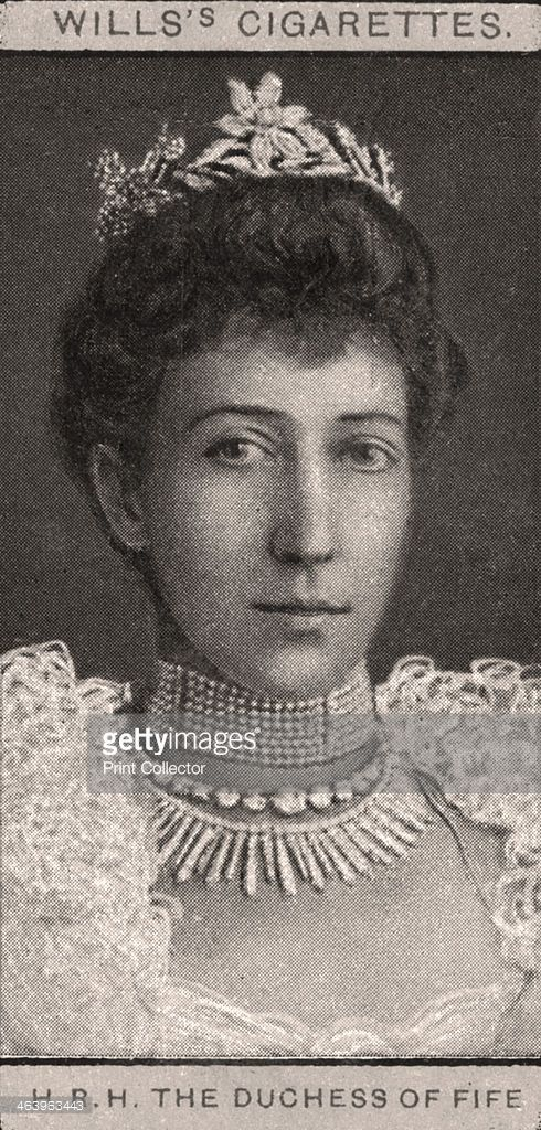 The Duchess of Fife, 1908. Portraits of European Royalty, Wills's Cigarette Cards, Bristol & London.