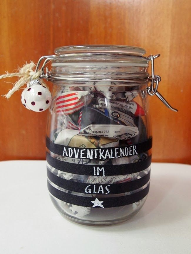 #Adventskalender #Glas #Jar