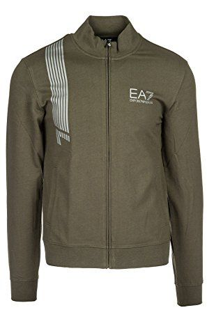Emporio Armani EA7 Men s Sweatshirt With Zip Sweat Green Review   W ... e7245869d6a7