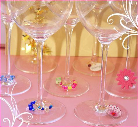 how to make your own wine glass charms