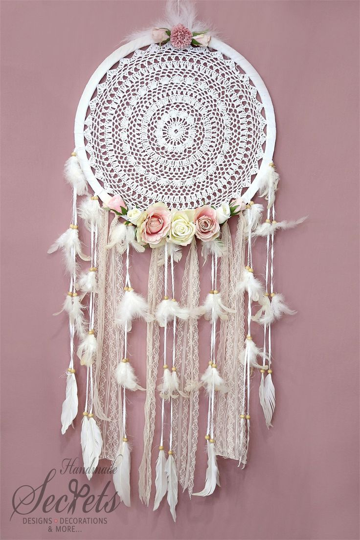 Dreamcatcher Dream Catcher With Flowers by AnnasHandmadeSecrets