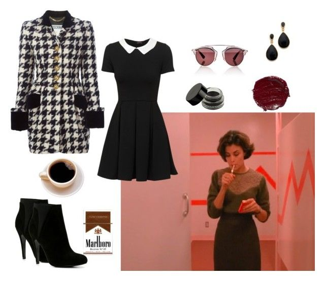 """""""Audrey horne"""" by postpunkfaery on Polyvore featuring mode, Moschino, Christian Dior, Kenneth Jay Lane en ALDO"""