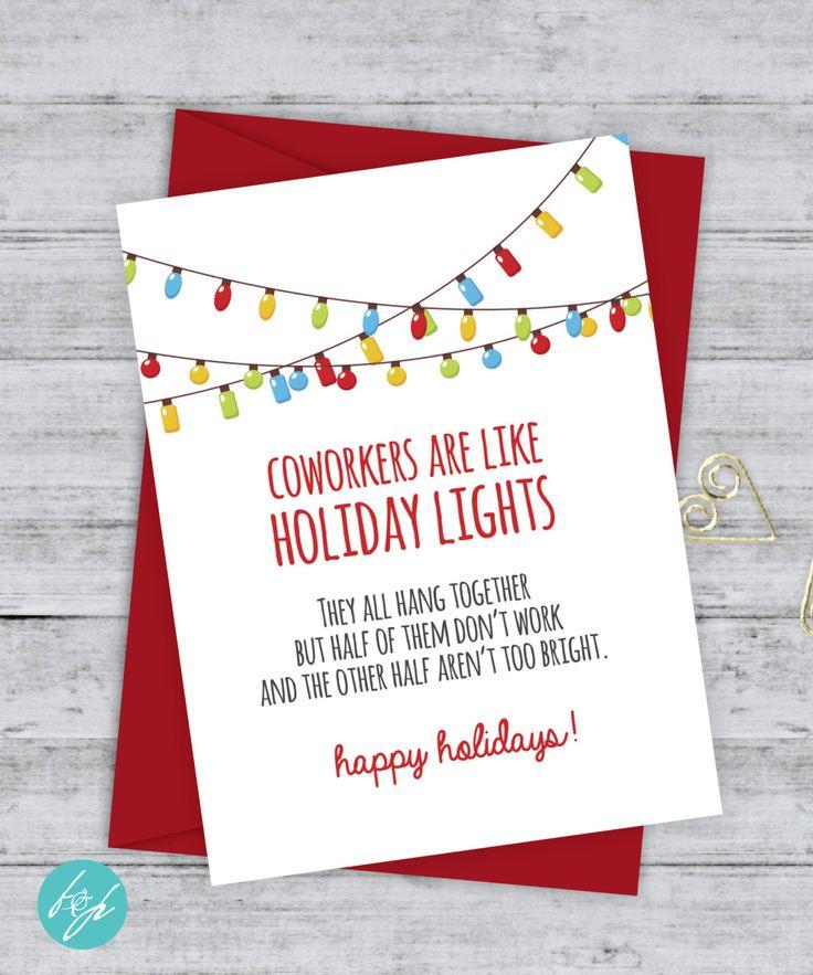 Coworker Card Funny Christmas Card Christmas Card Xmas