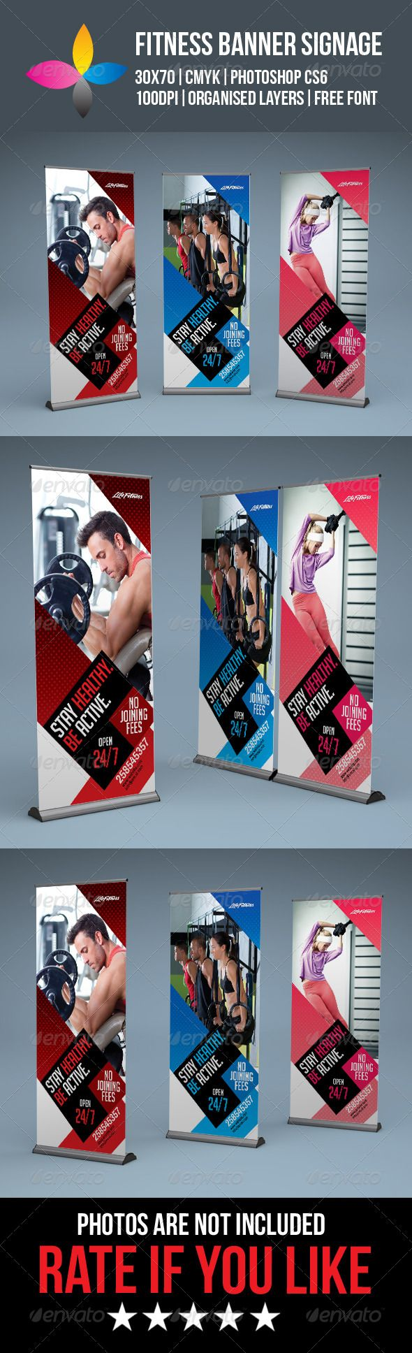 Fitness+Roll+Up+Banner+Signage