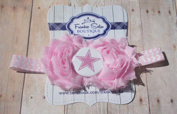 Pink Dallas Cowboys baby headband Baby by Frankiesofia on Etsy, $7.95