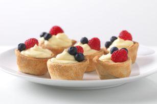 JELL-O Patriotic Mini Fruit Tarts recipe