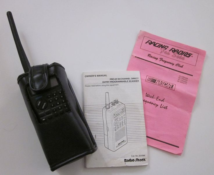 RADIO SHACK PRO-23 50-CHANNEL DIRECT ENTRY PROGRAMMABLE SCANNER NASCAR #RadioShack