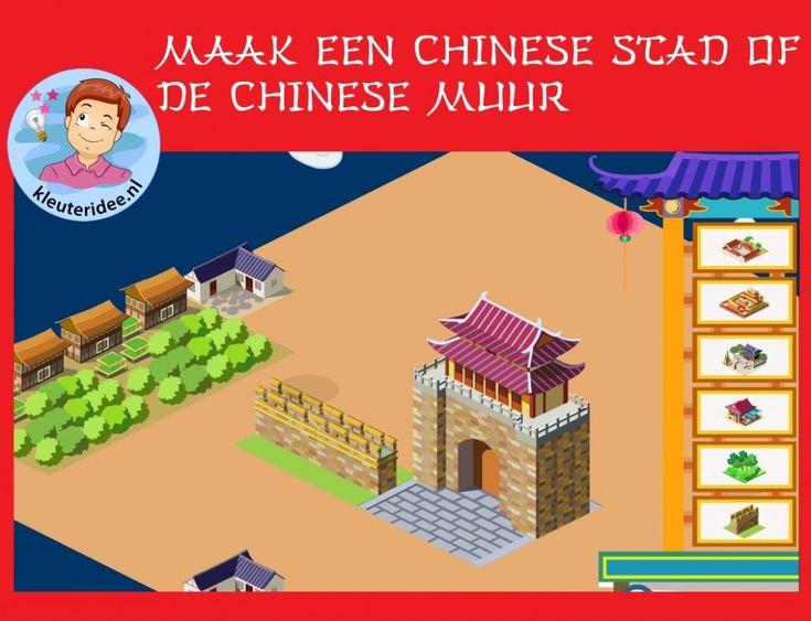 Maak een Chinese stad of een Chinese muur, thema China voor digibord of IWB op kleuteridee.nl