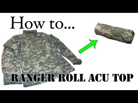 How to Ranger Roll Your ACU Top 101 - Compact Army Combat Uniform for Packing and Basic Training