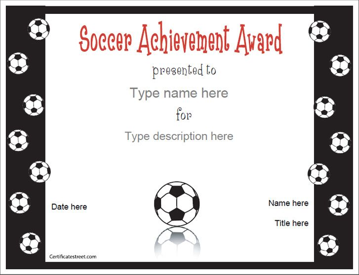 8 Best Certificate Images On Pinterest | Soccer Party, Sports
