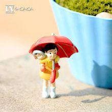 Filme Anime Hayao Miyazaki Totoro Pode micro jardim de fadas miniaturas terrário decoração estatueta mini figuras de ação bonecas adereços DIY(China (Mainland))