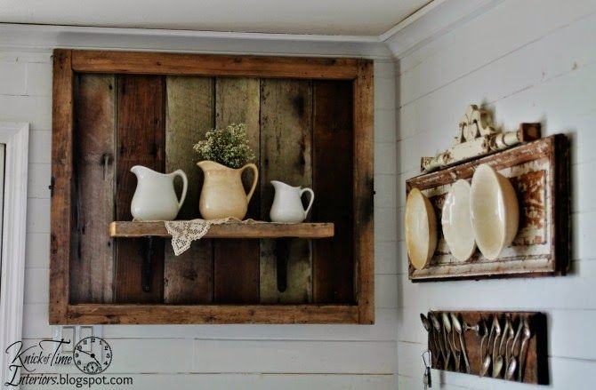 Salvaged Wood Display Shelf