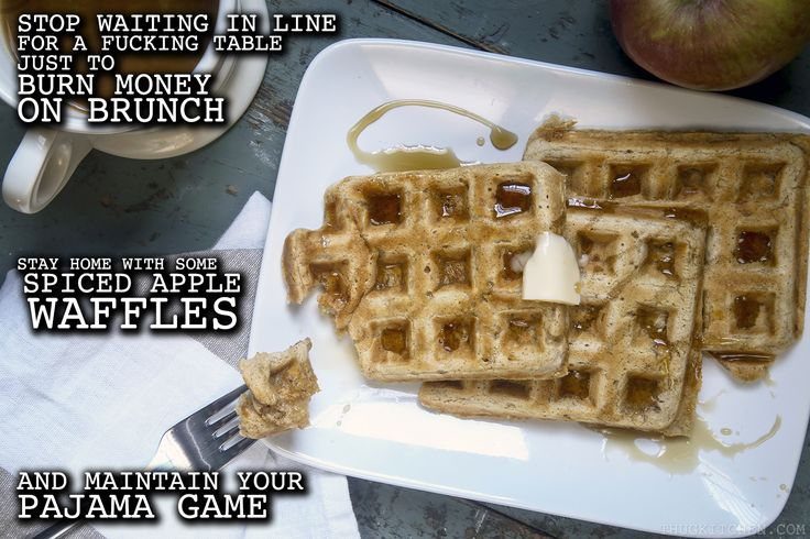 Trying to meet your monthly waffle quota without burning money on brunch? Thug Kitchen's got your back.