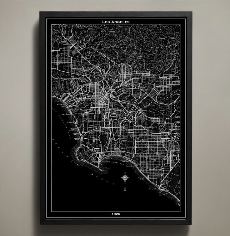 Map Print LOS ANGELES 37 best City