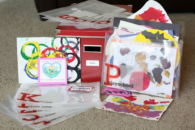how to organize kids artwork from school