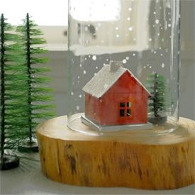 Holiday DIY Craft Project: Make an Etched Glass Snowglobe