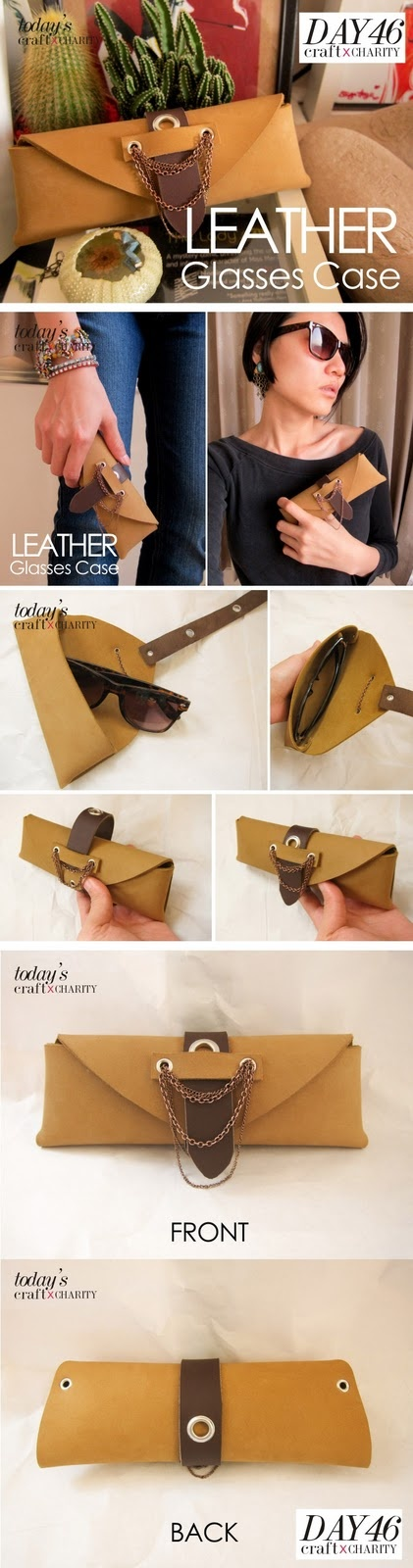 Day 46 - Handmade Leather Glasses Case