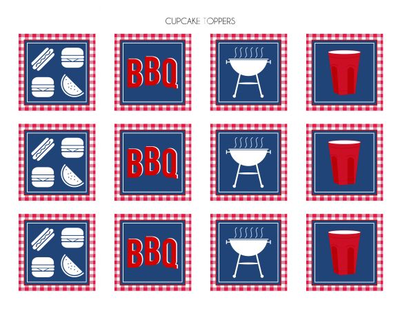 Free SOLO cup inspired BBQ printable decorations! | CatchMyParty.com